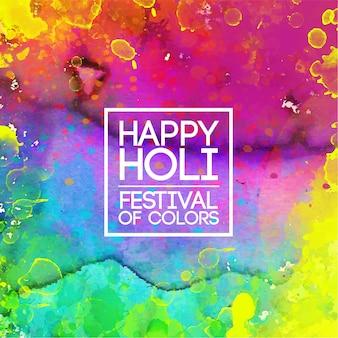 Festival de holi vívido aquarela de cores