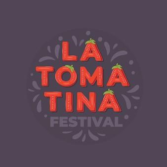 Festival de la tomatina, banner de letras