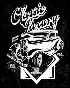 Festival de luxo, ilustração de carro super clássico