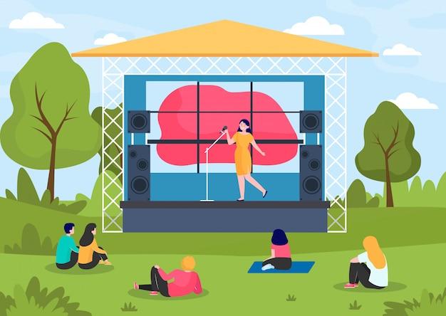 Festival de música ao ar livre