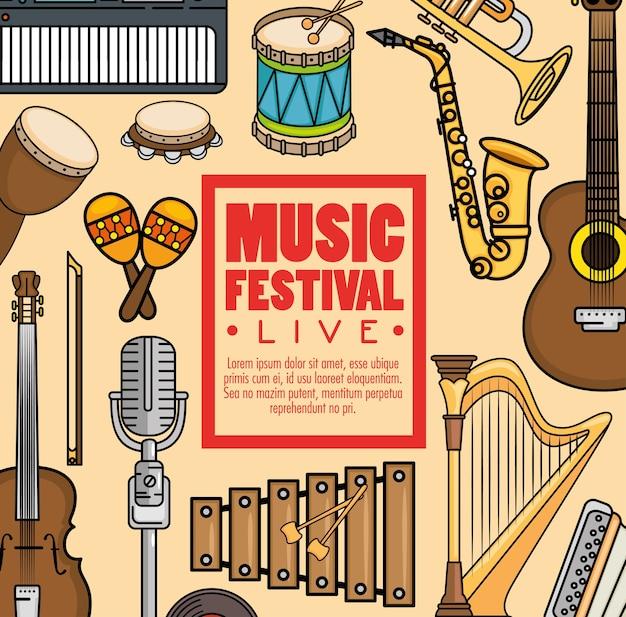 Festival de música de banner ao vivo