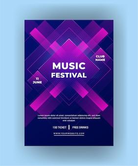 Festival de música de modelo de folheto moderno