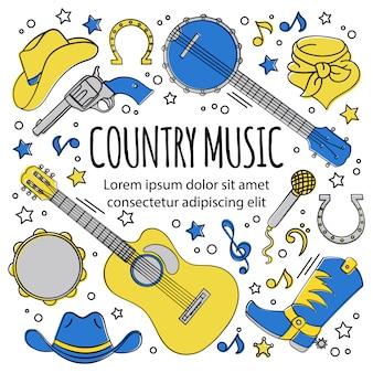 Festival de música de país feriado ocidental