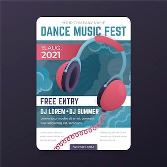 Festival de música de pôsteres ilustrados