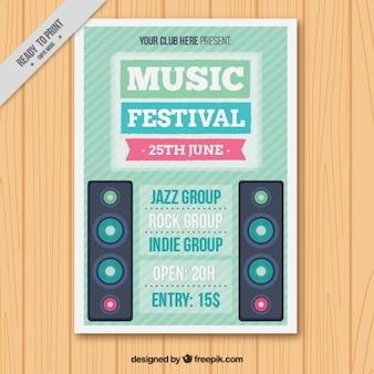Festival de música do insecto com alto-falantes
