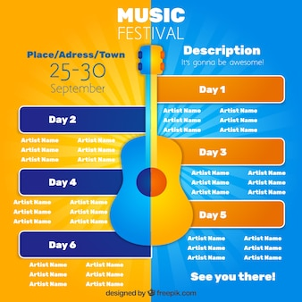 Festival de música poster