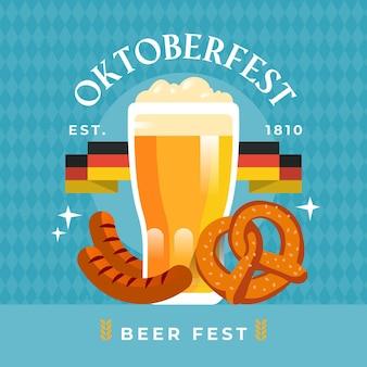 Festival de oktoberfest de mão desenhada