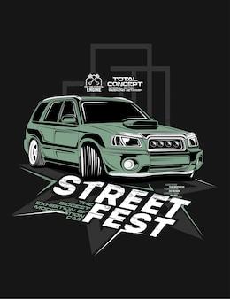 Festival de rua, modificações de supercarros