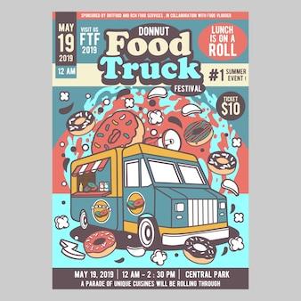 Festival do caminhão de comida de donnut