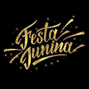 Festival festa junina do brasil em ouro