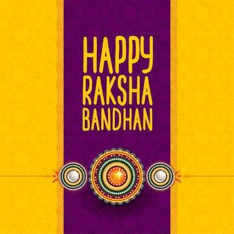 Festival hindu de feliz raksha bandhan saudação