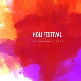 Festival holi, vermelho da aguarela