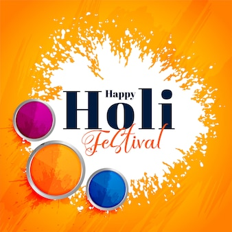 Festival indiano feliz holi fundo atraente