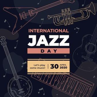 Festival internacional do dia do jazz vintage