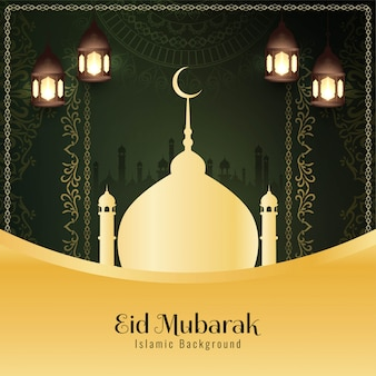 Festival islâmico religioso abstrato de eid mubarak