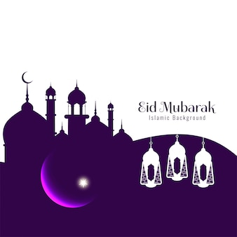 Festival religioso abstrato eid mubarak fundo