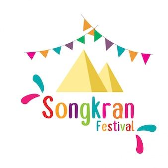 Festival songkran na tailândia.