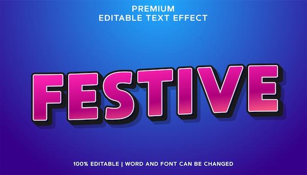 Festivo - estilo de efeito de texto editável