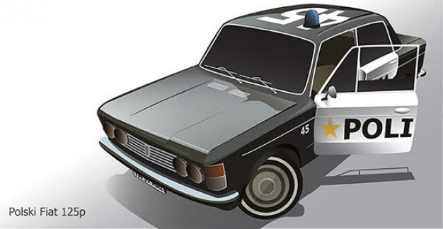 Fiat carro vector
