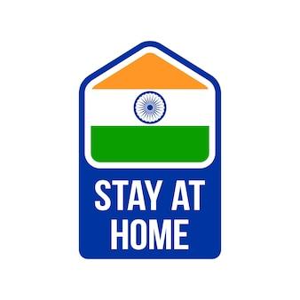 Ficar em casa índia prevenção do coronavírus.