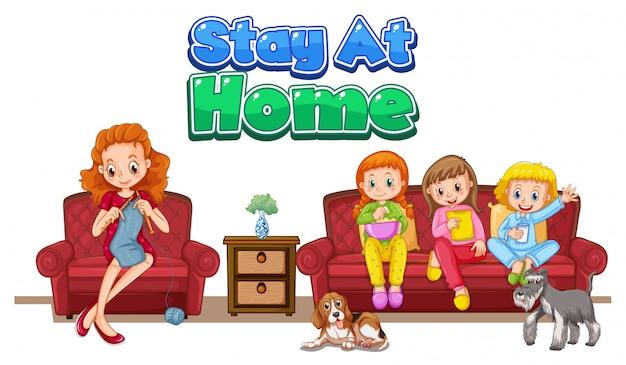 Ficar em casa para evitar o coronavírus