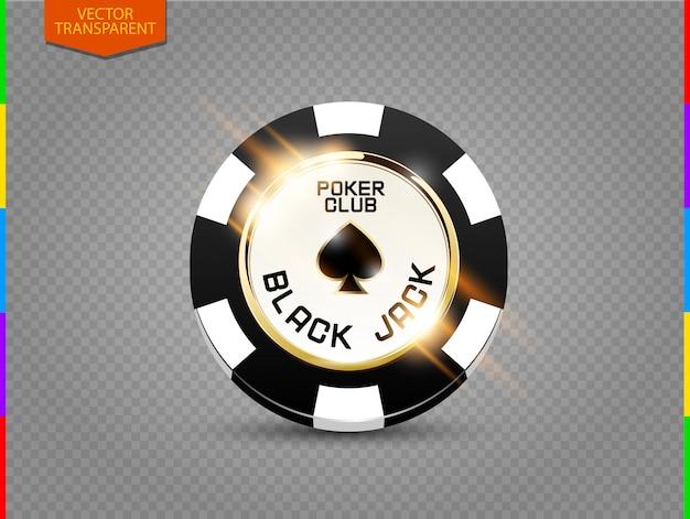 Ficha de poker com efeito de luz