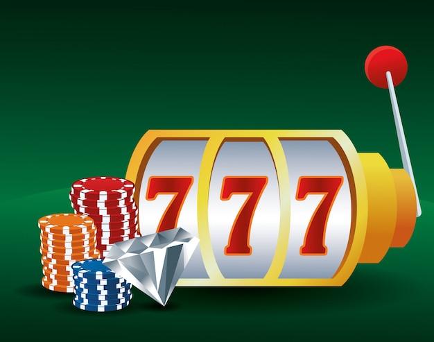 Fichas de caça-níqueis e cassino de jogo de apostas de diamante