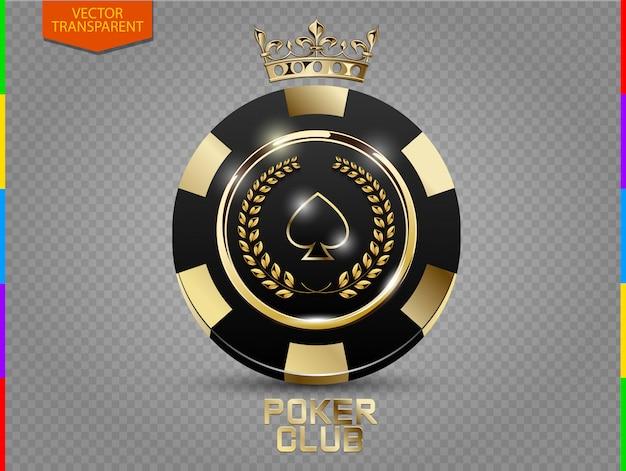 Fichas de poker preto e dourado