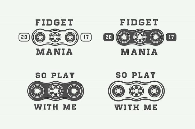 Fidget spinners logotipos, emblemas