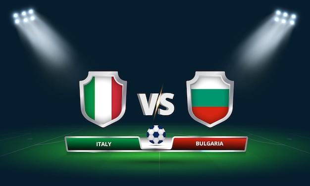 Fifa world cup 2022 itália x bulgária transmissão do placar do jogo de futebol