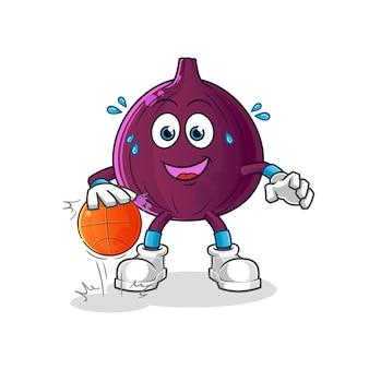 Fig dribla personagem de basquete