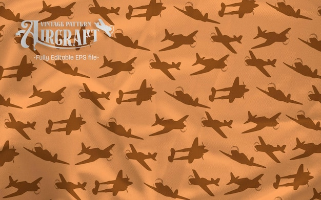 Fighter vintage siluet padrão fundo marrom