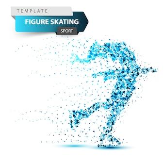 Figura scating - ilustração do triângulo de inverno