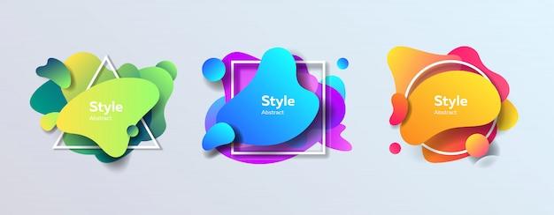 Figuras abstratas coloridas modernas