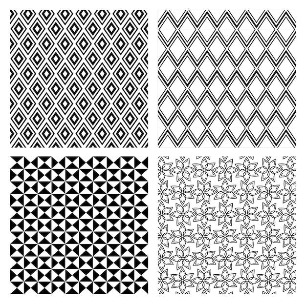 Figuras geometrics conjunto monocromático fundos