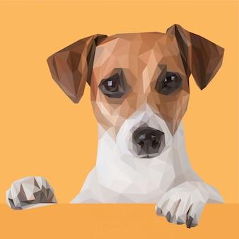 Filhote de cachorro bonito com estilo poligonal