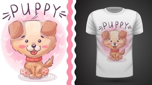 Filhote de cachorro bonito - ideia para imprimir camiseta