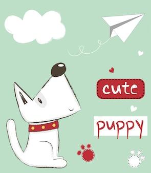 Filhote de cachorro bonito ilustração