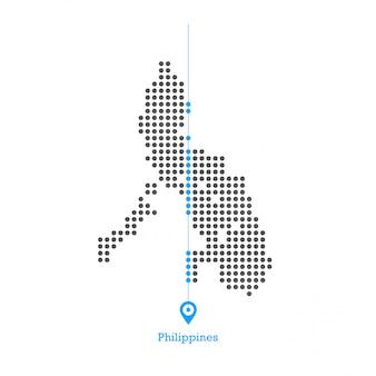 Filipinas pontilhada mapa vector design