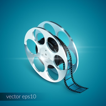 Film reel realistic