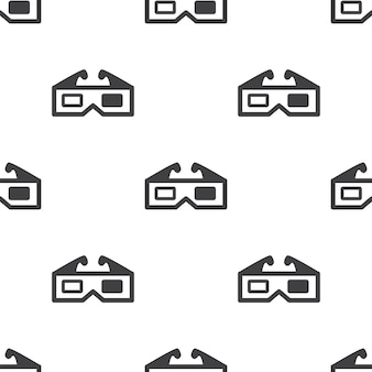Filme 3d, padrão sem emenda de vetor, editável pode ser usado para planos de fundo de páginas da web, preenchimentos de padrão