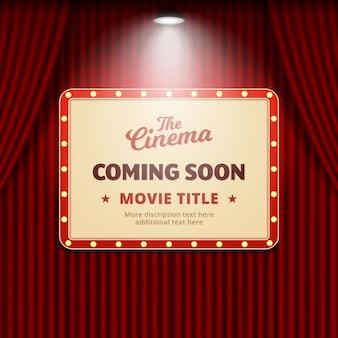 Filme de cinema em breve projeto de promoção de banner