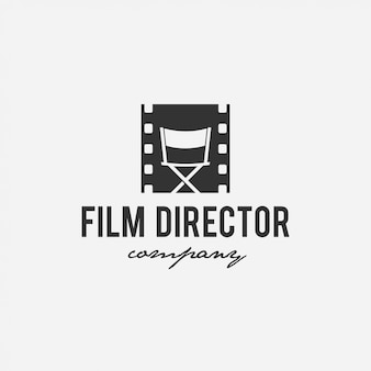 Filme de design de logotipo criativo, cinema, diretor, empresa de tv