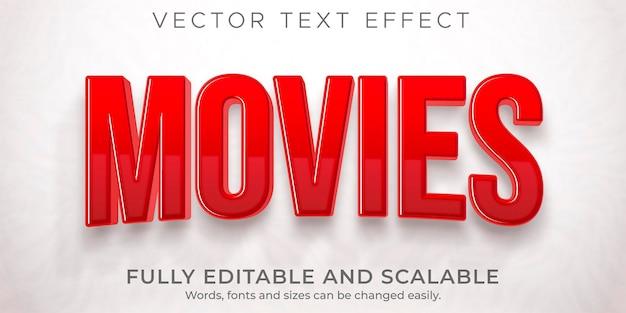 Filme editável com efeito de texto de cinema e estilo de programa