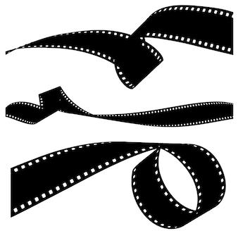 Filme fotográfico revelado isolado em um fundo branco