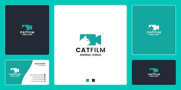 Filme para gatos, produção e edição de filmes de design de logotipo para educação animal