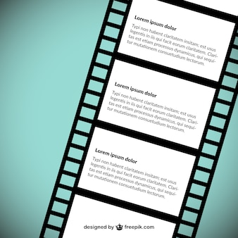 Filme template tira vector
