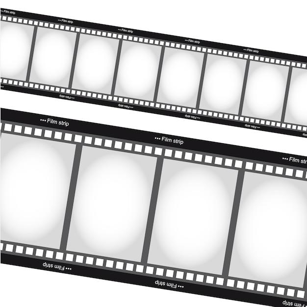 Filmes negativos tripes sobre vetor de fundo branco