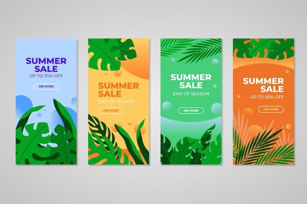 Fim da temporada verão venda instagram stories set