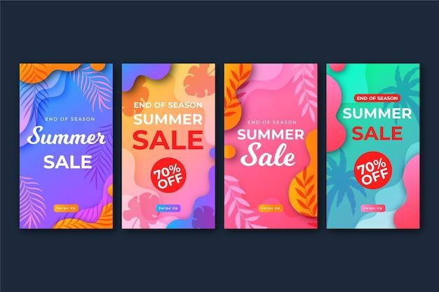 Fim de temporada venda verão ig histórias